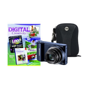 Photo of Samsung WB250F Black Camera Kit Inc PCT Photoshop Elements and Case Digital Camera