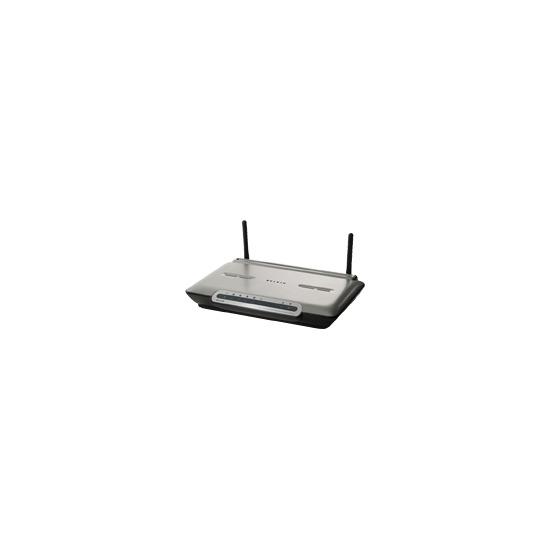 Belkin ADSL2+ Modem with Wireless G+ MIMO Router - Wireless router + 4-port switch - DSL - EN, Fast EN, 802.11b, 802.11g