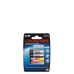 Uniross - Battery 4 x AAA type NiMH 1000 mAh Reviews