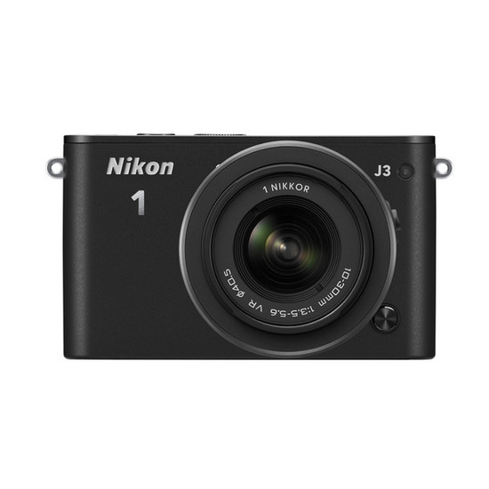 Nikon 1 J3 Compact System Camera with 10-30 mm Zoom Lens - White