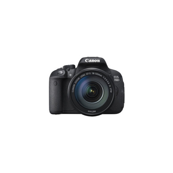 Canon EOS 700D SLR Camera Black 18-135mm IS STM 18MP