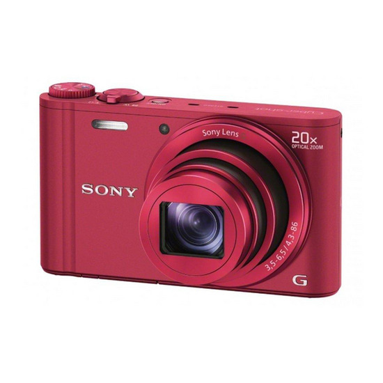 SONY DSCWX300R Advanced Compact Digital Camera - Red