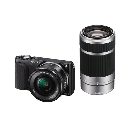 SONY NEX3NYB Compact System Camera with 16-50 mm + 55-210 mm Lens