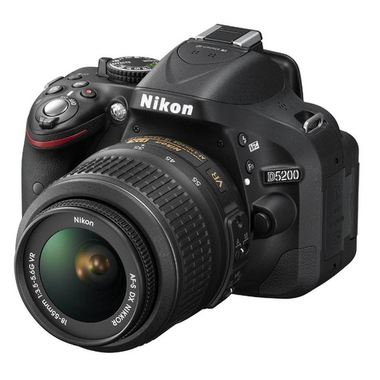 Nikon D5200 SLR Camera Red 18-55mm VR Lens Kit 24MP