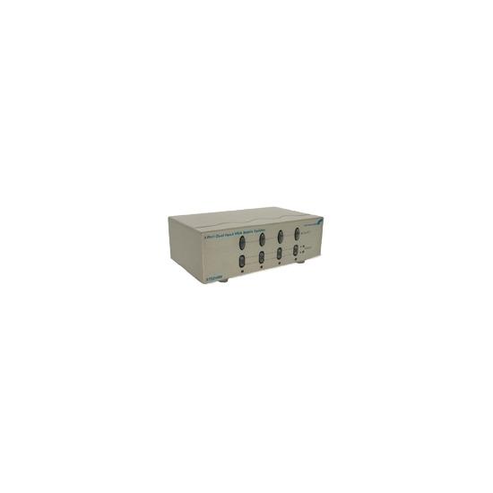 StarTech.com 4 Port Dual Input VGA Matrix Splitter - Monitor switch - 4 ports