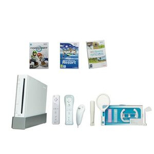 Photo of Nintendo White Wii Console Mario Kart Mega Package Games Console Accessory