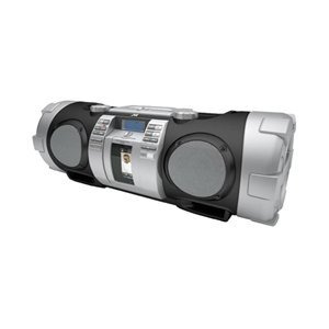 Photo of JVC CD Portable Boomblaster and Integrated iPod Dock and Twin Subs CD Player