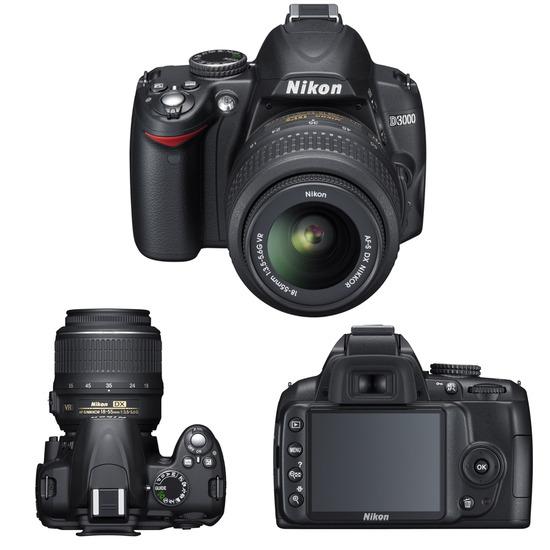 Nikon D3000 with Nikon 18-55mm and Tamron 70-300mm lenses