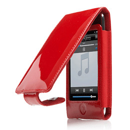 Glam Patent Leather Flip Case Red Touch