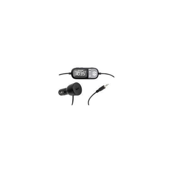 Belkin TuneCast Auto Universal with ClearScan - Digital player FM transmitter / charger for car