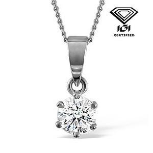 Photo of IGI Certified 0.70CT Chloe Platinum Pendant g/VS1 Jewellery Woman