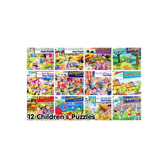 12 Assorted Children's Puzzles Bumper Pack