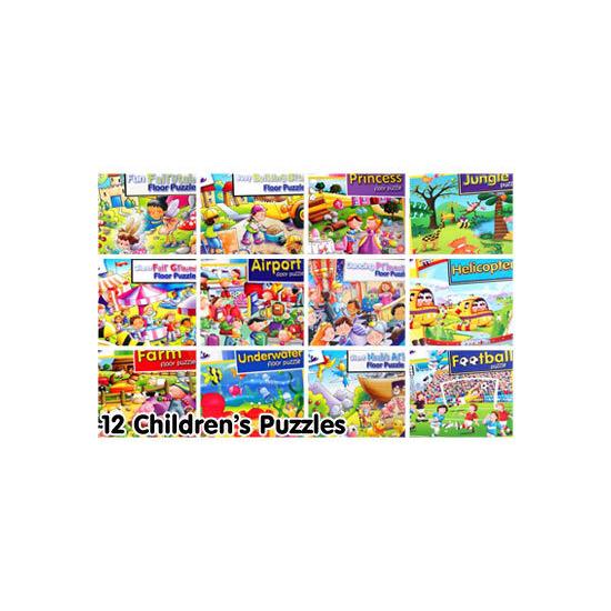 12 Assorted Children's Puzzles Bumper Pack