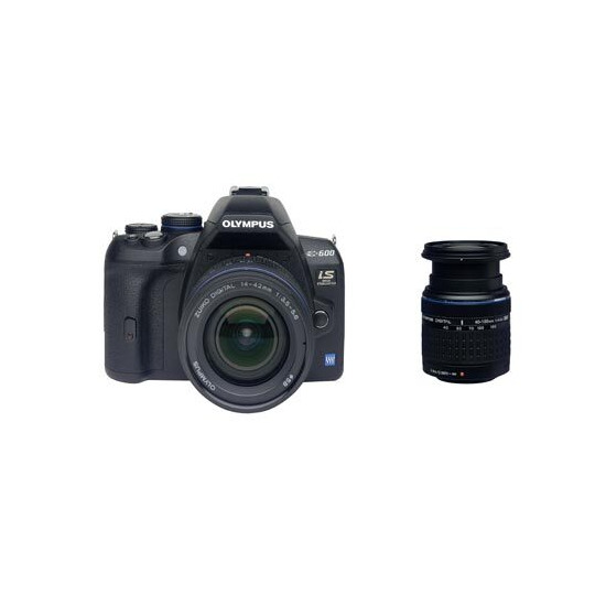 Olympus E-600 with 14-42mm and 40-150mm lenses