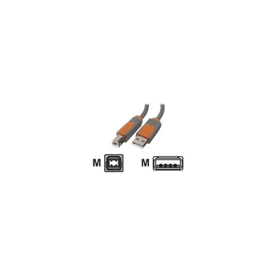 Belkin PRO Series Hi-Speed USB 2.0 Device Cable - USB cable - 4 PIN USB Type A (M) - 4 PIN USB Type B (M) - 4.9 m ( USB / Hi-Speed USB )