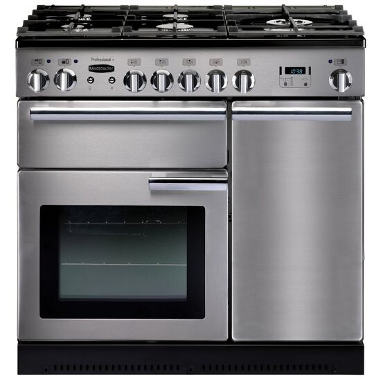 Rangemaster 90cm wide Professional Plus Dual Fuel Range Cooker with FSD - 8