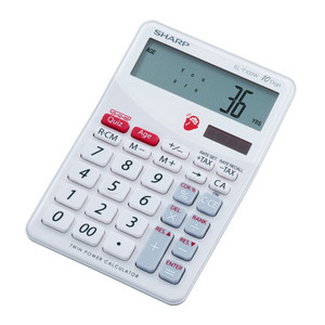 Photo of Sharp ELT100WB Brain Trainer Calculator Gadget