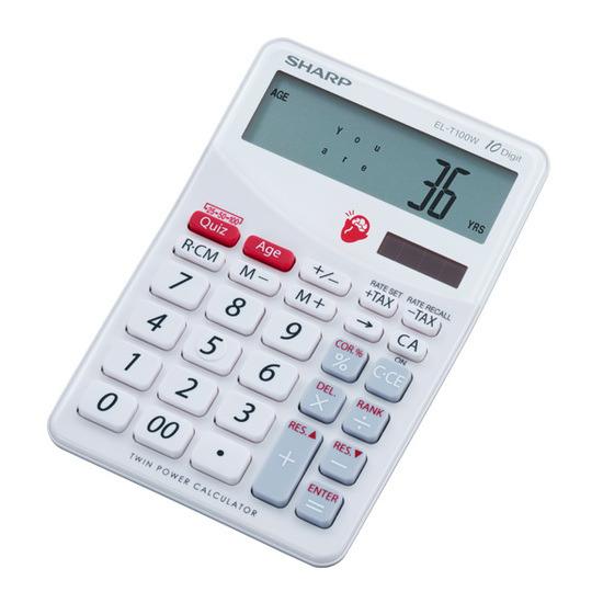 Sharp ELT100WB Brain Trainer Calculator