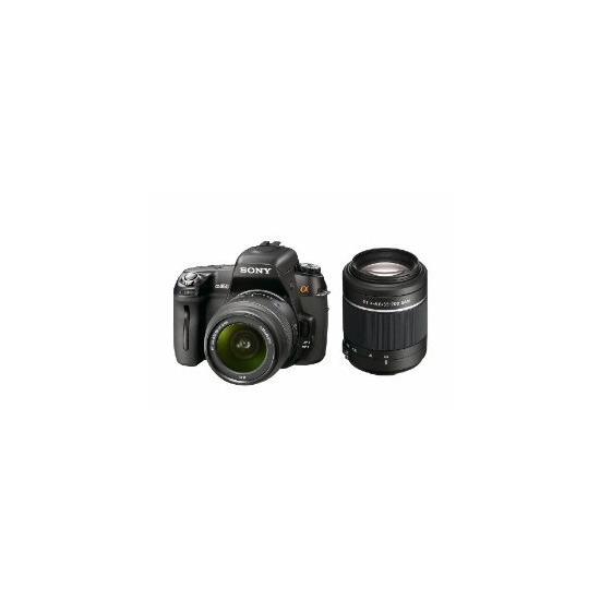 Sony Alpha DSLR-A450Y with 18-55mm and 55-200mm lenses