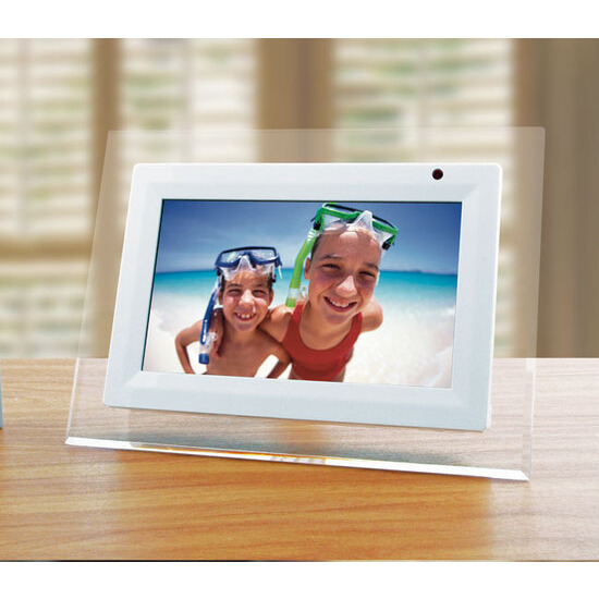 "Lloytron White 7"" Digital Photo Frame"