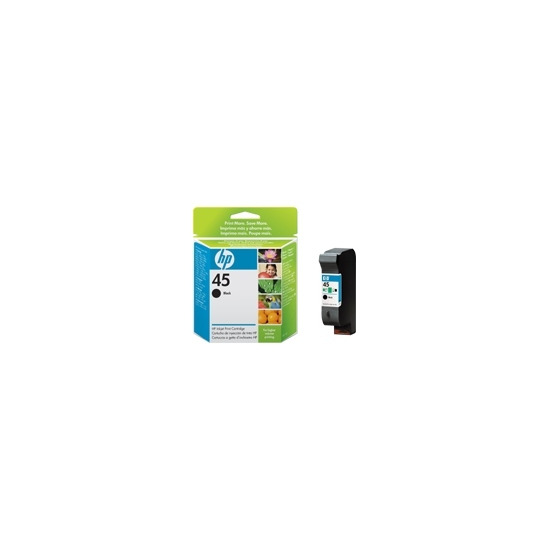 HP 45 Large - Print cartridge - 1 x black - 830 pages