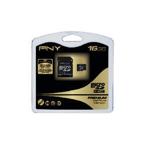 Photo of PNY Premium - Flash Memory Card ( MICROSDHC To SD Adapter Included ) - 16 GB - MICROSDHC Memory Card