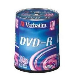 Verbatim 43549 DVD-R 16x 4.7GB 100pk Sp Reviews