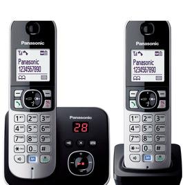 Panasonic KX-TG6822EB Cordless Phone with Answering Machine - Twin Handsets Reviews