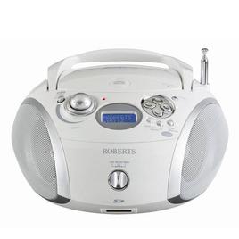 ROBERTS ZoomBox 2 Portable DAB+ Radio - White & Silver Reviews