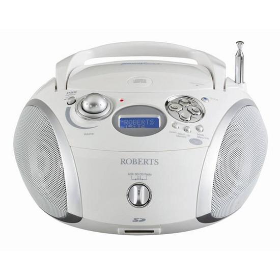 ROBERTS ZoomBox 2 Portable DAB+ Radio - White & Silver