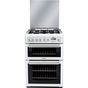 Photo of Hotpoint Dual Fuel Cooker EG74P Polar White Cooker