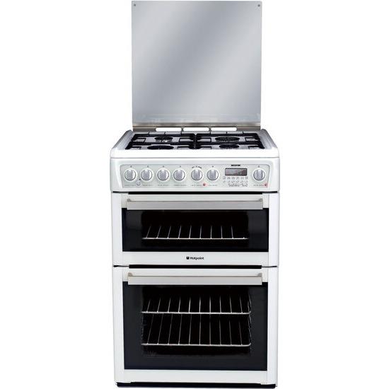 Hotpoint Dual Fuel Cooker EG74P Polar White