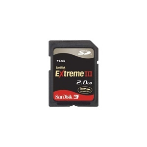 Photo of SanDisk Extreme III 2 GB Memory Card