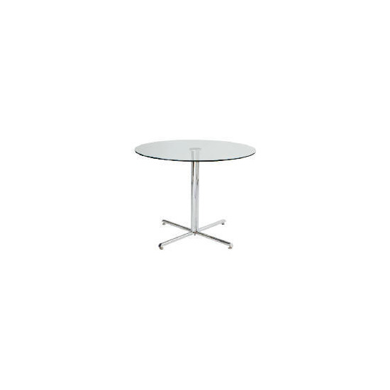 Luna dining table, clear