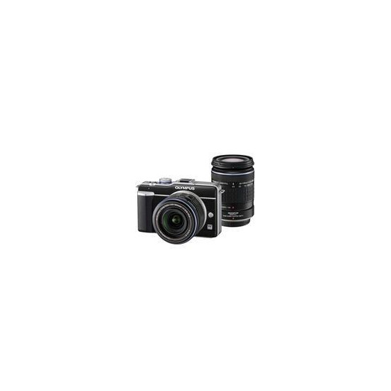 Olympus E-PL1 with 14-42mm and 40-150mm lenses