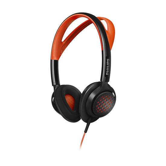 Philips SHQ5200/10 Headphones - Orange & Grey
