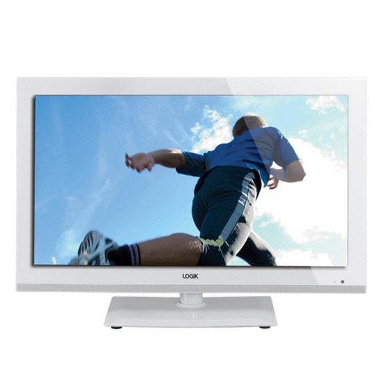 Logik L24FEDW13 24 LED TV with Built-in DVD Player - White