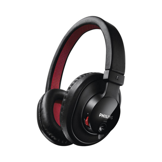Philips SHB7000/10 Wireless Bluetooth Headphones - Black & Red