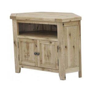 Photo of Rutland Solid American Oak Corner TV Stands and Mount