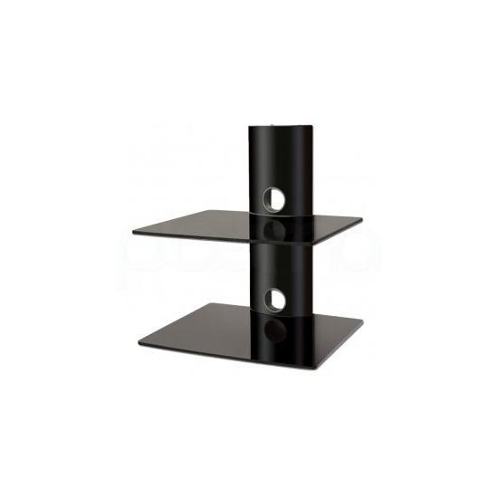Black 2 shelf equipment support unit