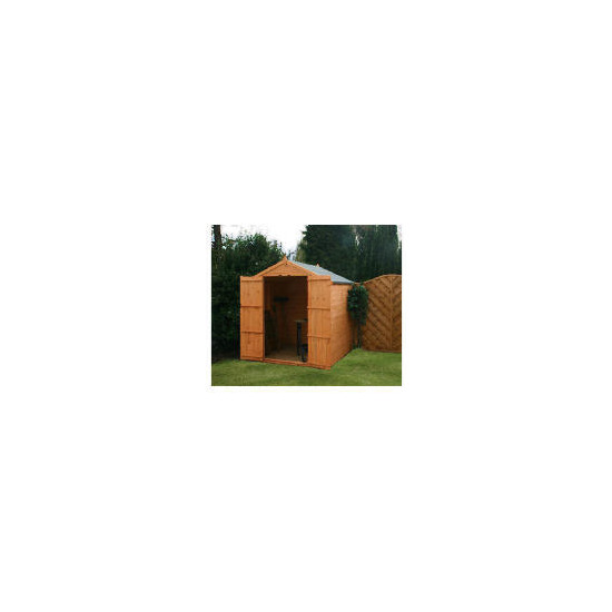 6x6 Apex 8mm Shiplap shed no window double doors