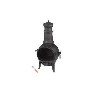 Photo of Tesco Small Cast Iron Chimenea Electric Heating