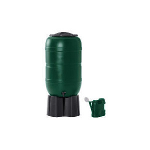 Photo of 210L Plastic Water Butt With Stand, Connector + FREE Watering Can Garden Equipment
