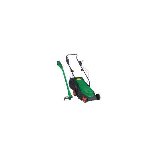 Powerforce Twin Pack Cordless Grass Trimmer & Lawnmower