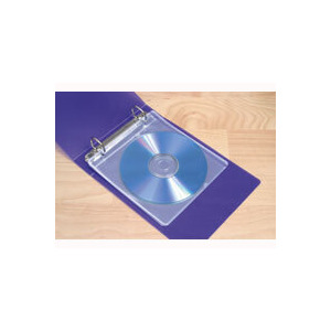 Photo of Storex 15 Double Sided Fabric Backed CD Sleeves With Binder Holes CD and DVD Storage