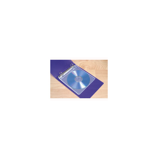 Storex 15 Double Sided Fabric Backed CD Sleeves With Binder Holes