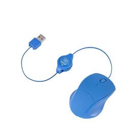 RETRAK Retractable Laser Mouse - Blue