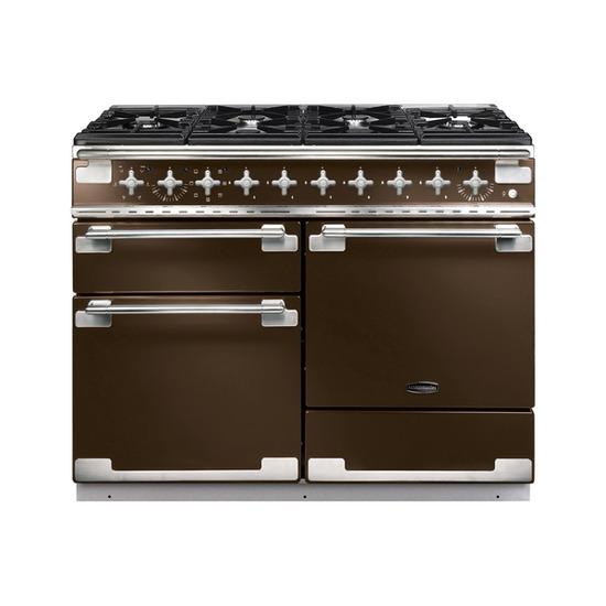Rangemaster Elise 110 Dual Fuel Range Cooker - Chocolate & Chrome