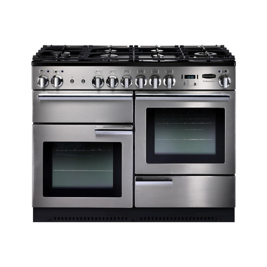Rangemasterfessional+ 110 Gas Range Cooker - Stainless Steel & Chrome