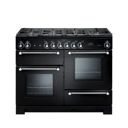 Rangemaster Kitchener 110 Dual Fuel Range Cooker - Black & Chrome Reviews
